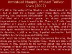 armistead maupin michael tolliver lives 2007