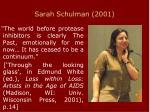 sarah schulman 2001