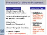 protection out of home placements