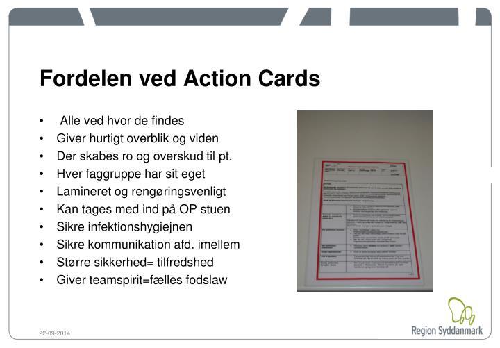 Fordelen ved Action Cards