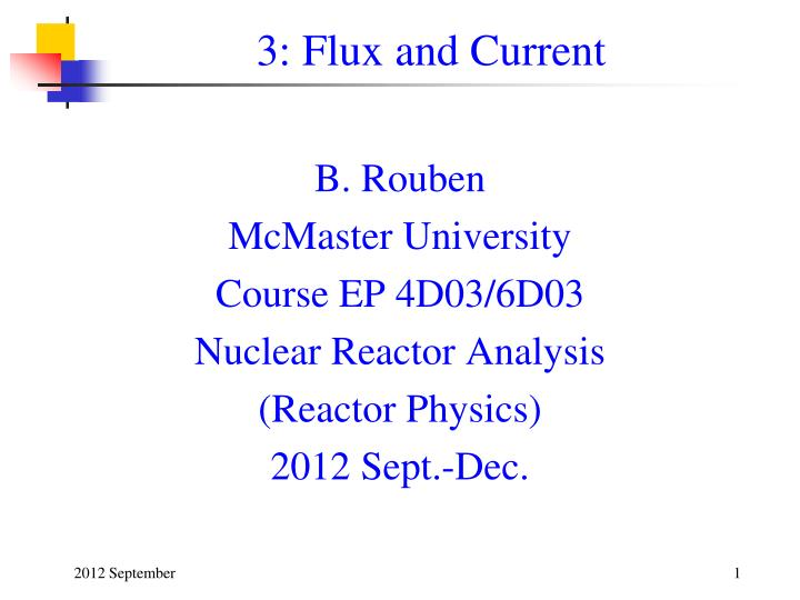 3 flux and current