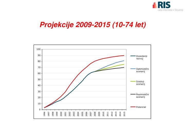 Projekcije 2009-2015 (10-74 let)