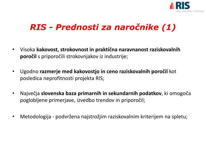RIS - Prednosti za naročnike (1)