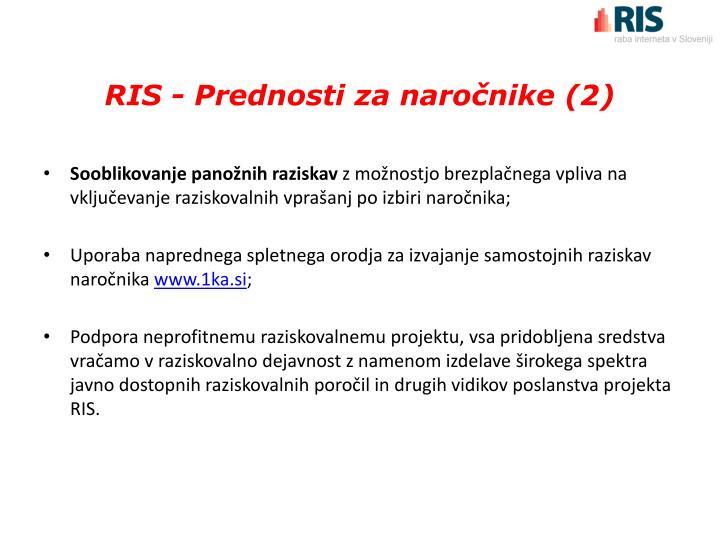 RIS - Prednosti za naročnike (2)
