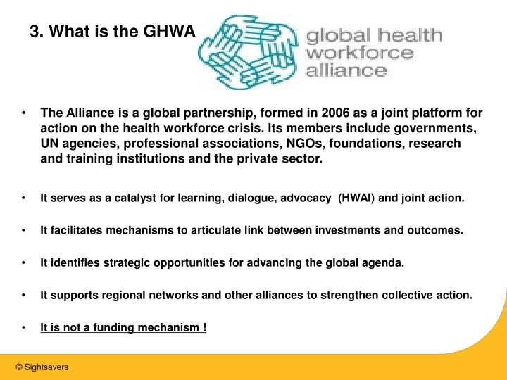 3. What is the GHWA ?