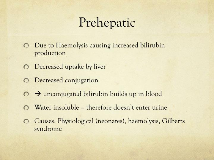 Prehepatic
