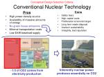 conceptual design selection criteria conventional nuclear technology
