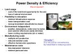 power density efficiency why is it important