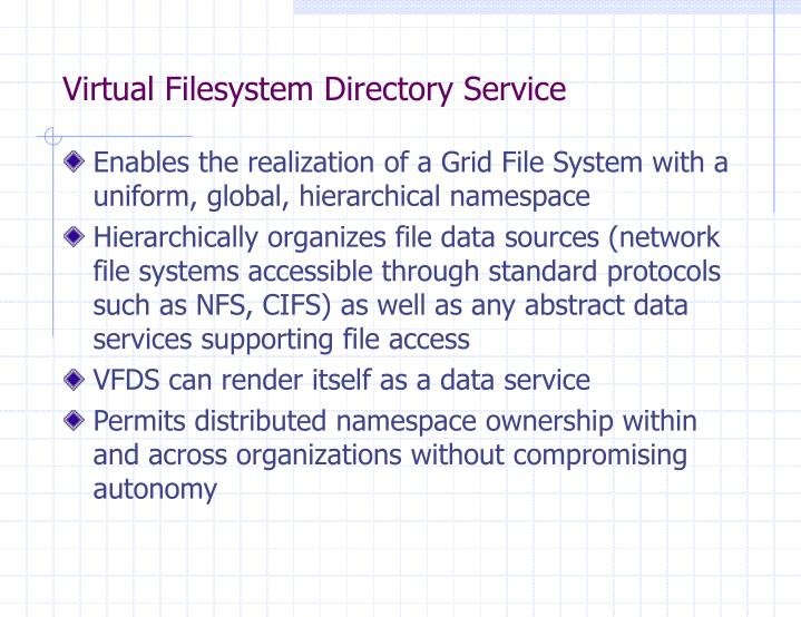 Virtual filesystem directory service1