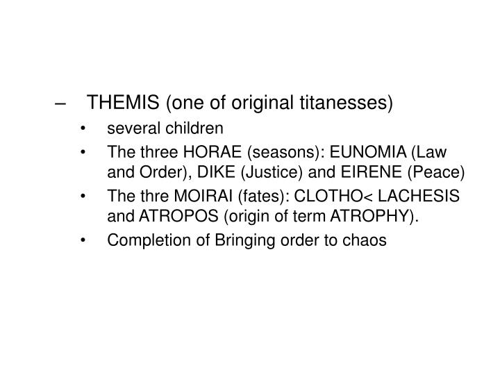 THEMIS (one of original titanesses)