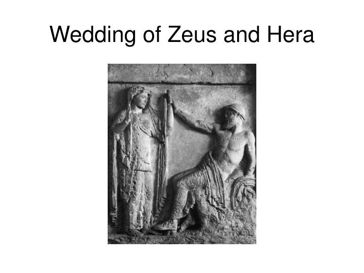 Wedding of Zeus and Hera