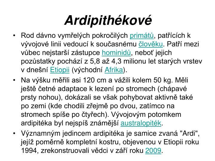 Ardipithékové
