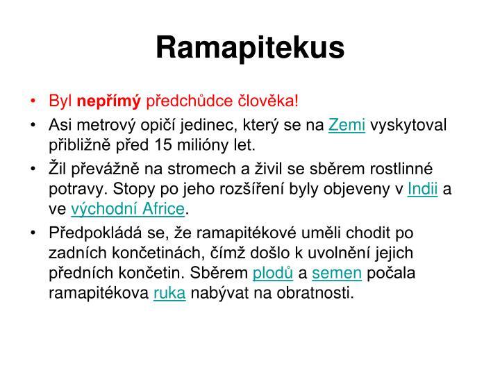 Ramapitekus
