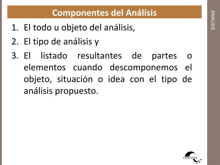 Componentes del Análisis