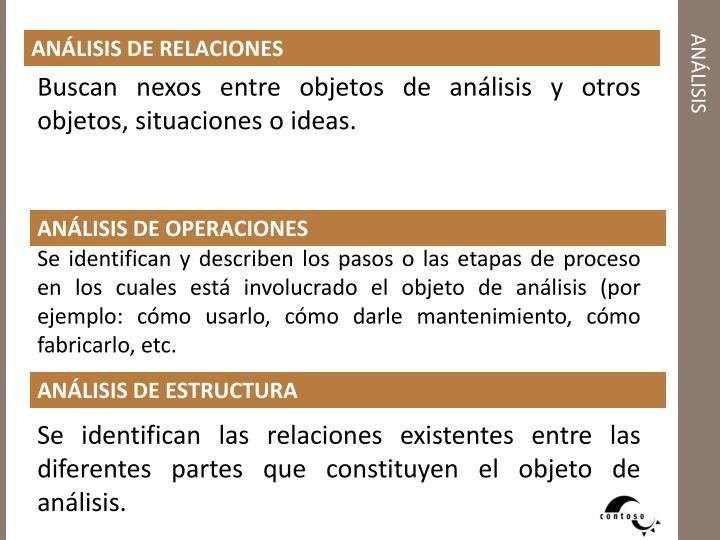 ANÁLISIS DE RELACIONES
