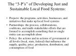 the 3 p s of developing just and sustainable local food systems