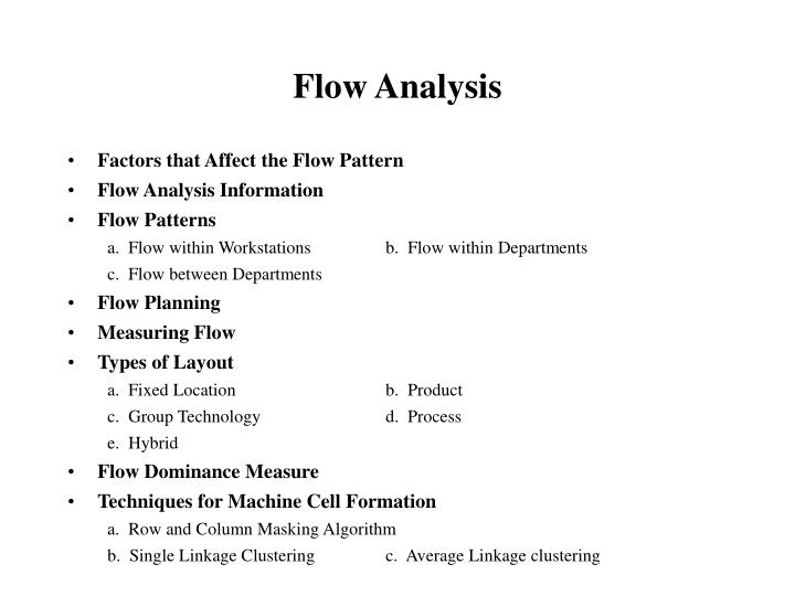 flow analysis n.