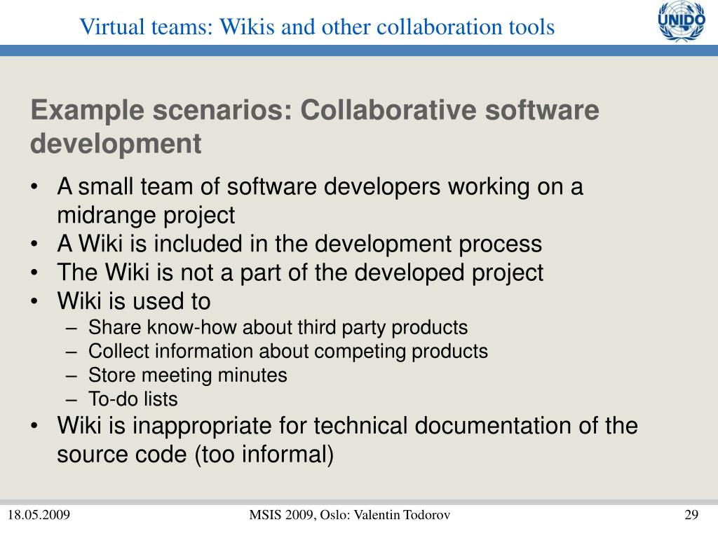 PPT - Virtual teams: Wikis and other collaboration tools PowerPoint