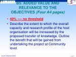 b5 added value and relevance to the objectives four a4 pages
