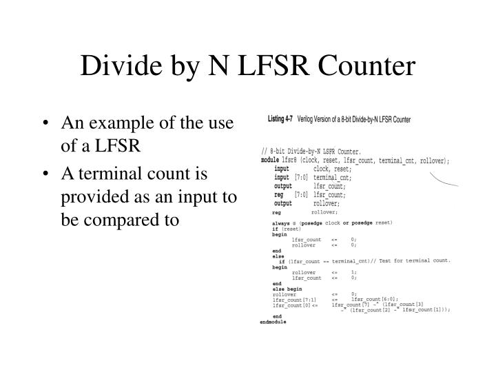 Divide by N LFSR Counter