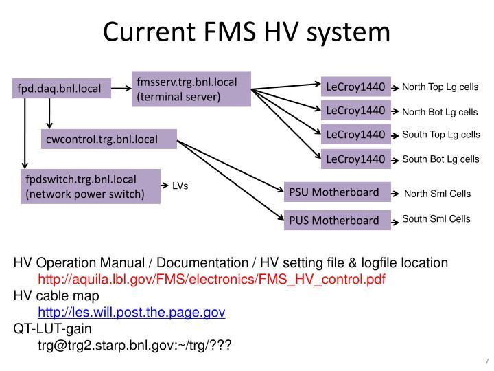 Current FMS HV system