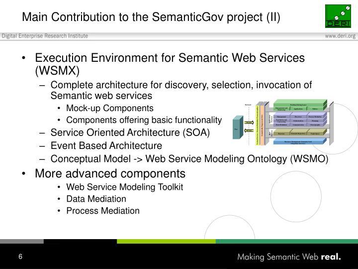 Main Contribution to the SemanticGov project (II)
