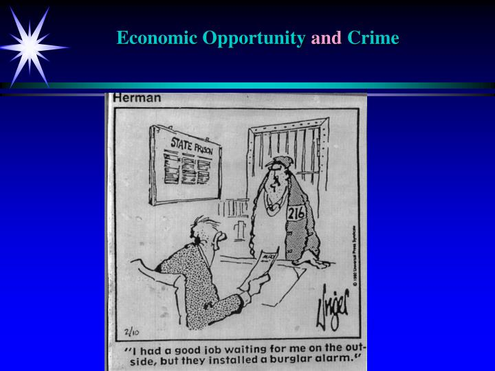 economic opportunity and crime n.