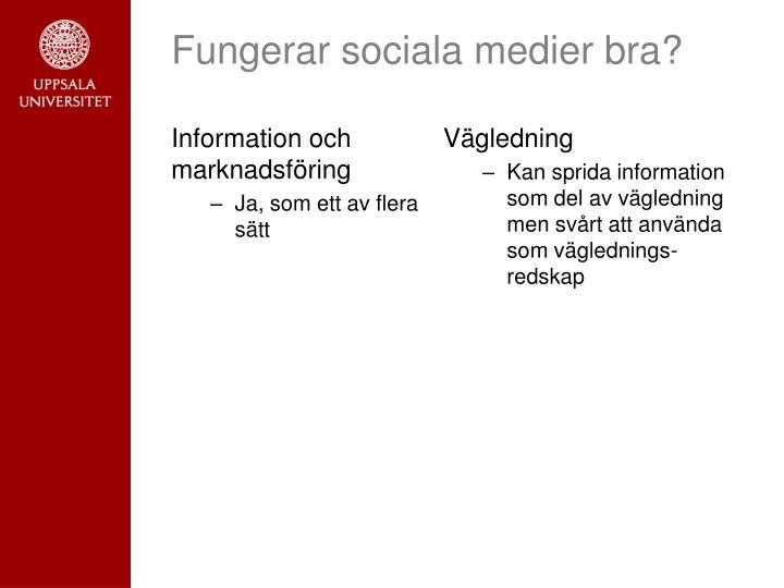 Information och marknadsföring