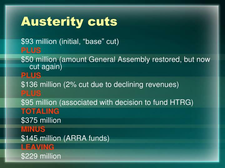 Austerity cuts