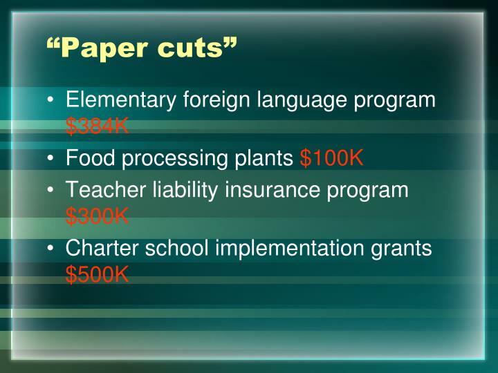 """""""Paper cuts"""""""