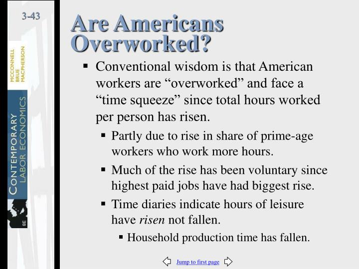 Are Americans Overworked?