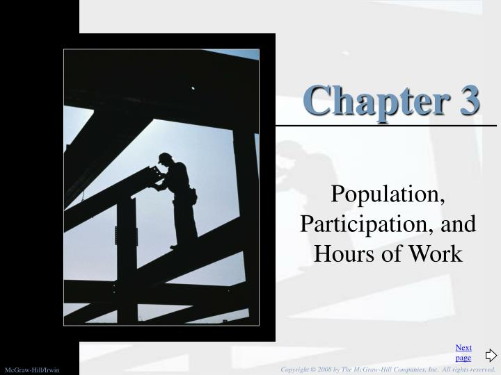 Population participation and hours of work