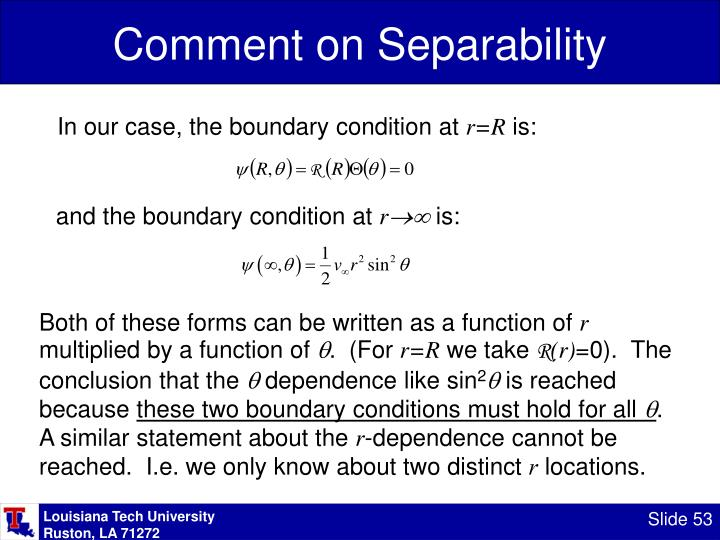 Comment on Separability