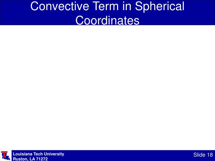 Convective Term in Spherical Coordinates