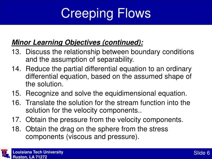Creeping Flows