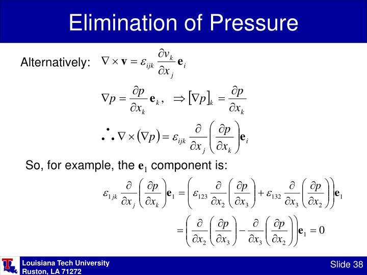 Elimination of Pressure