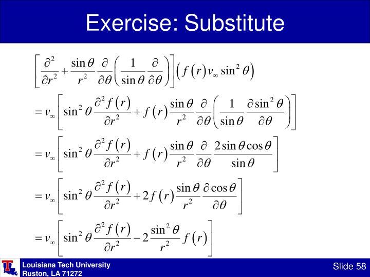 Exercise: Substitute