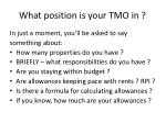 what position is your tmo in