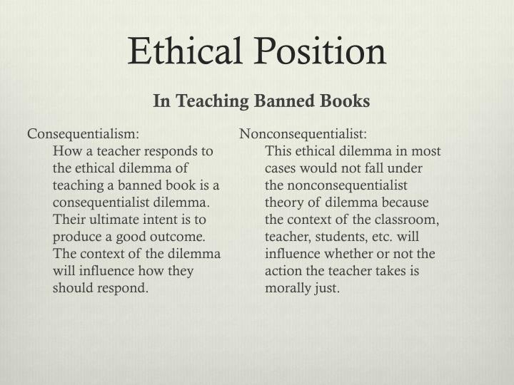 Ethical Position