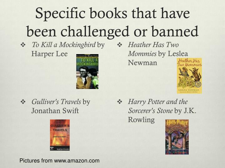Specific books that have been challenged or banned