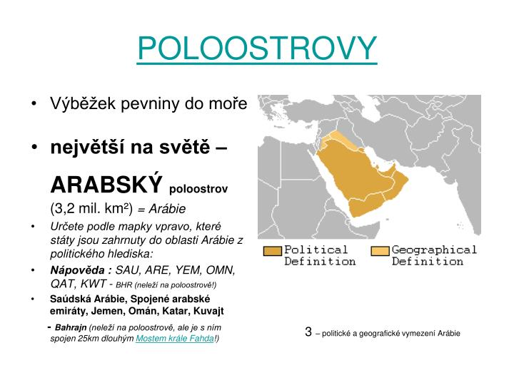 POLOOSTROVY