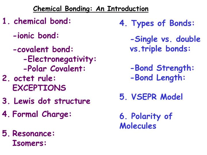 Ppt Chemical Bonding An Introduction 1 Chemical Bond Ionic