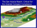 the san acacia reach critical for rio grande compact compliance