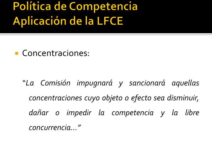 Política de Competencia
