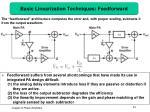 basic linearization techniques feedforward