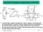 cascade pa examples parallel class a and b pas