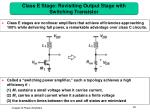class e stage revisiting output stage with switching transistor