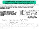 example of polar modulation using direct vco modulation and quadrature upconversion