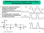 high efficiency power amplifiers class a stage with harmonic enhancement