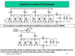 injection locked pa example